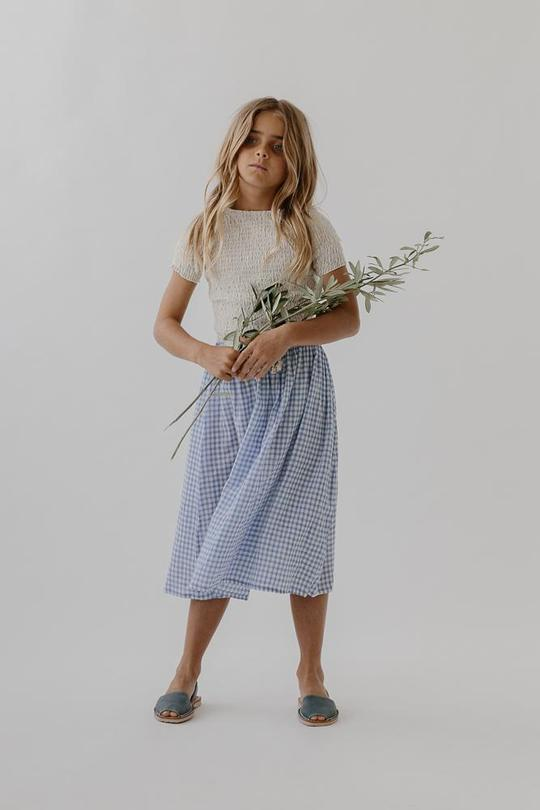 """**Daughter** <br><br> Reigning from Byron Bay, Daughter is all about longevity, designed to last by using the highest-quality fabrics, classic silhouettes and sustainable production process. With floaty, earthy tones and comfortable styles, their designes are perfect for the modern child - whether they're beachside or in the leafy 'burbs.  <br><br> **[Shop Daughter online here](https://daughterco.com/