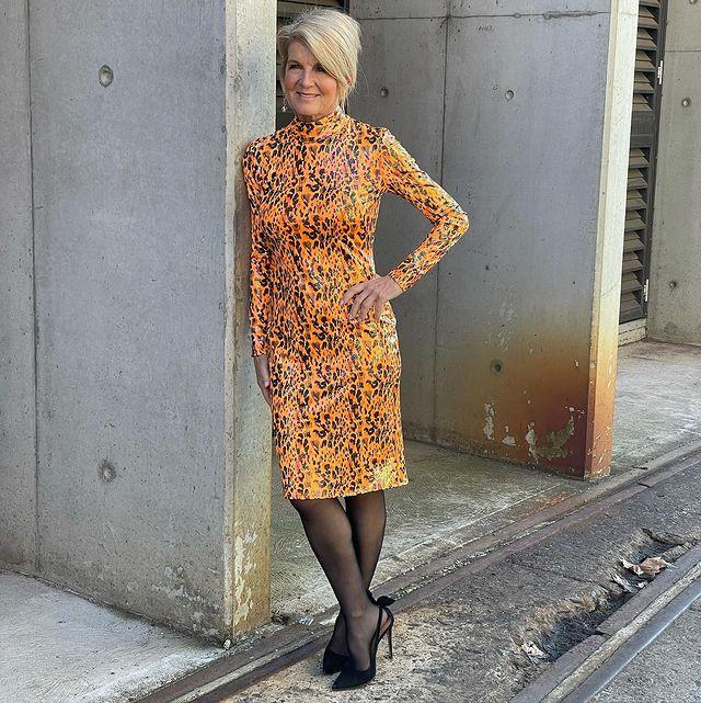 Julie Bishop looked stunning in this Meraki printed dress.