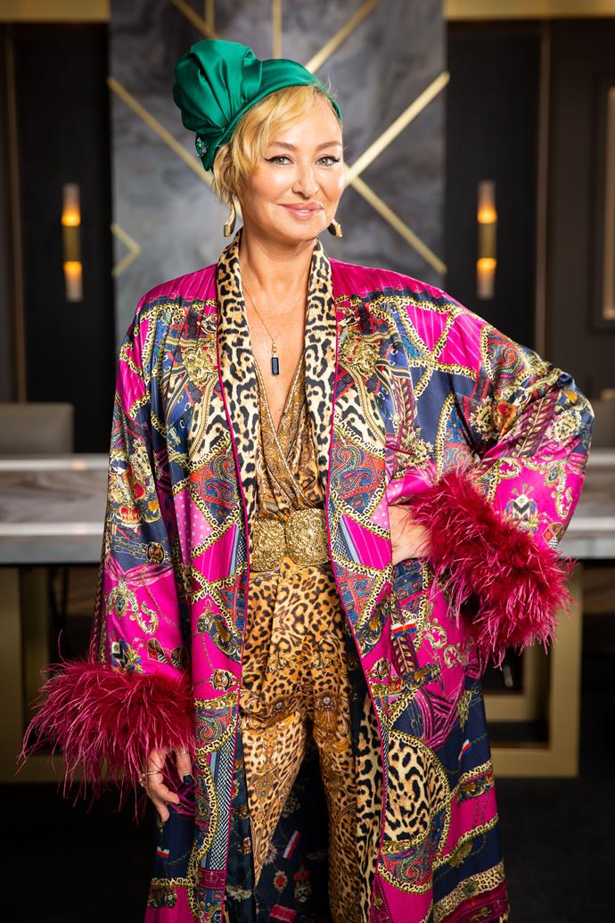 Camilla has been donning her clothing brand every episode.