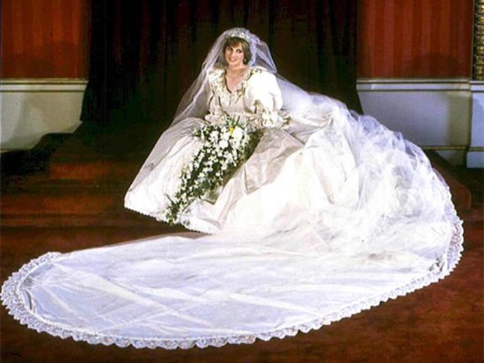 Princess Diana's wedding dress was the epitome of a an 80s bride.