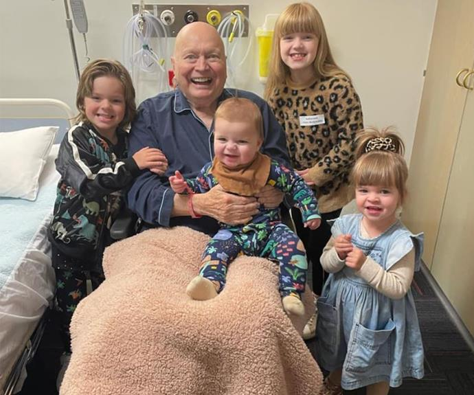 Before Melbourne went back into lockdown, Bert's grandchildren were able to visit him in hospital.