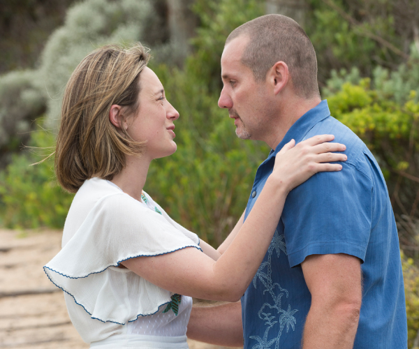 Eve and Ryan enjoyed a trusting, comfortable working relationship in Neighbours.