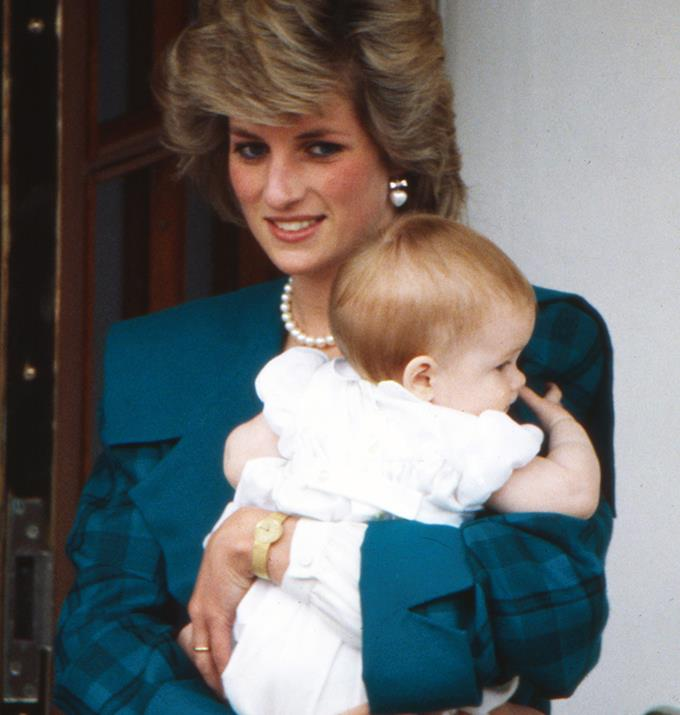 """**Henry Charles Albert David**  <br><br> In the book Diana: Her Story by Andrew Morton, Princess Diana revealed that she chose her son's first names, """"I chose William and Harry, but Charles did the rest. He wanted Albert and Arthur, and I said no. Too old!"""" she said.  <br><br> However, of course, Harry's middle name, Charles, is a tribute to his father, and Albert is a traditional family name. <br><br> The last name in Harry's extensive title, David, is commonly used by the family as a middle name for boys."""