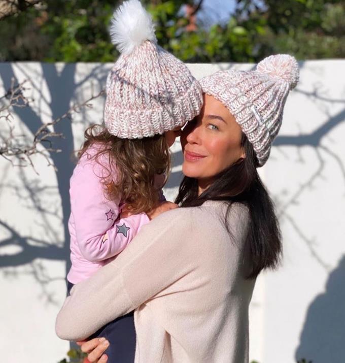 Megan with her daughter Rosie.