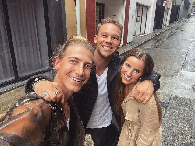 Christian has an array of celebrity friends, including *Home and Away*'s Lincoln Lewis and his *DWTS* partner, Lily Cornish.