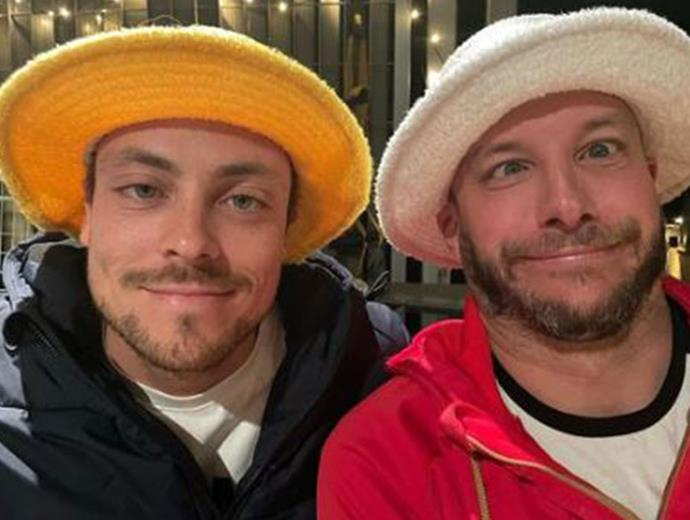 """Luke and Paddy aren't afraid to joke about together.  <br><br> """"Bill & ben the flower pot men,"""" Paddy quipped next to this selfie."""