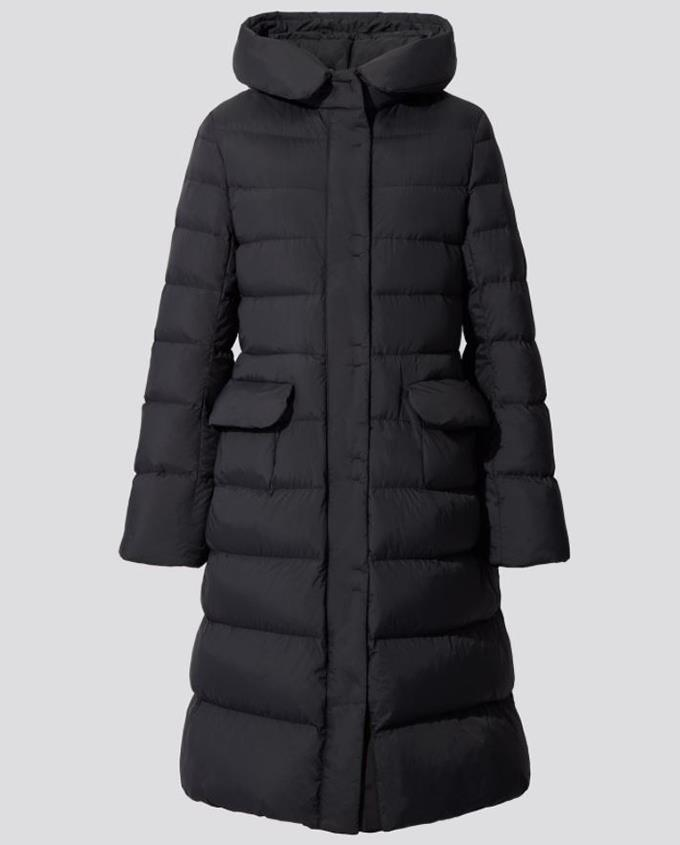 """Woman + J Ultra Light Down Hooded Coat, $149.90 from [Uniqlo.](https://www.uniqlo.com/au/en/products/E432603-000?colorCode=COL09
