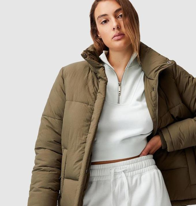 """Cotton On Body Active The Recycled Mother Puffer, $69.99 from [The Iconic.](https://www.theiconic.com.au/the-recycled-mother-puffer-1235931.html?utm_source=google&utm_medium=au_sem_nonbrand&utm_content=Coats%20%26%20Jackets&utm_campaign=AU_NC_Sports_PG_Generic&utm_term=PRODUCT_GROUP&gclsrc=aw.ds&gclid=CjwKCAjwqvyFBhB7EiwAER786Rn10DuCzngJGpg9OJDxEl29psiSKB3pj2nYeNCW3VjBMh2UerzOPhoCVEEQAvD_BwE
