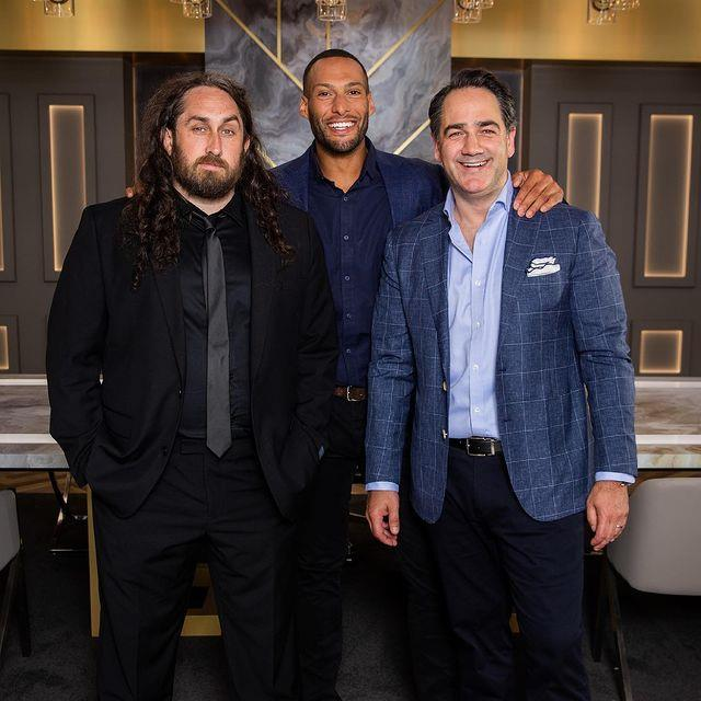 Ross Noble (far left) managed the snag the ultimate surprise on *Celeb Apprentice*, but it never made the cut.