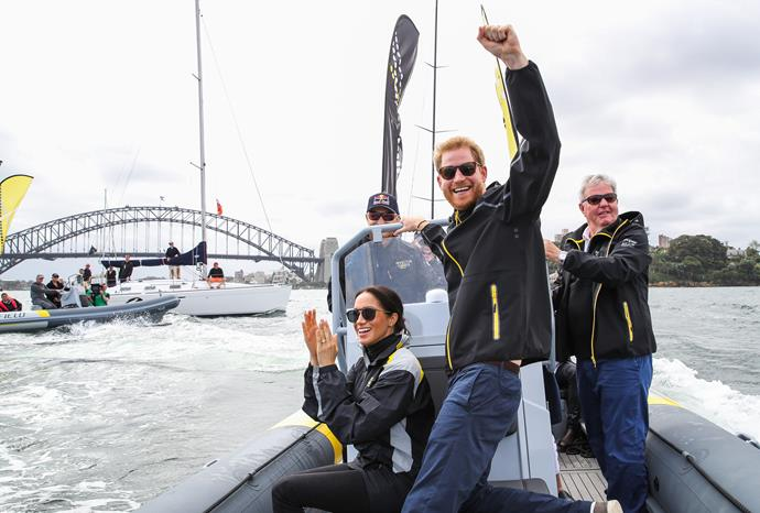 Harry was the image of joy at the Sydney Invictus Games in 2018.