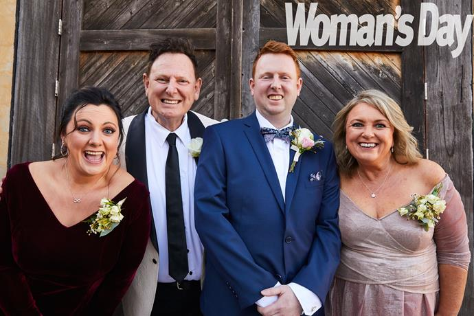 Sister Victoria, dad Mark and mum Cathy couldn't be happier for Jono