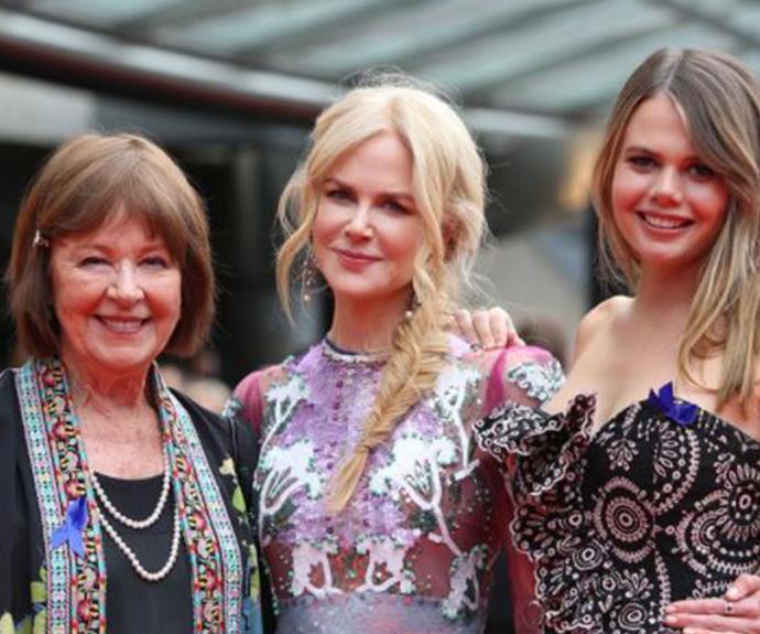 Three generations at the AACTA Awards.
