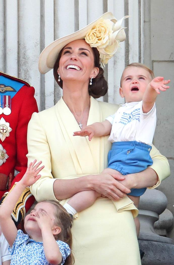 In 2018, the then 1-year-old Prince Louis managed to steal the entire show with his gorgeous frantic waving from the balcony - already a natural!