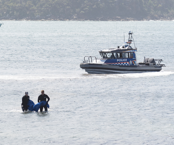 Who could it be? A body is retrieved.
