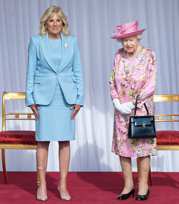 The Queen and Jill looked quite striking together.