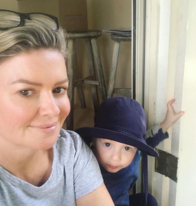 **Emily Symons**  <br><br> Here is bare-faced beauty Emily enjoying time with her son Henry.