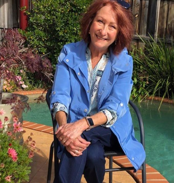**Lynne McGranger**  <br><br> The lovely Lynne has one of the kindest faces, and she looks especially calm and warm in this makeup-free shot in her backyard.