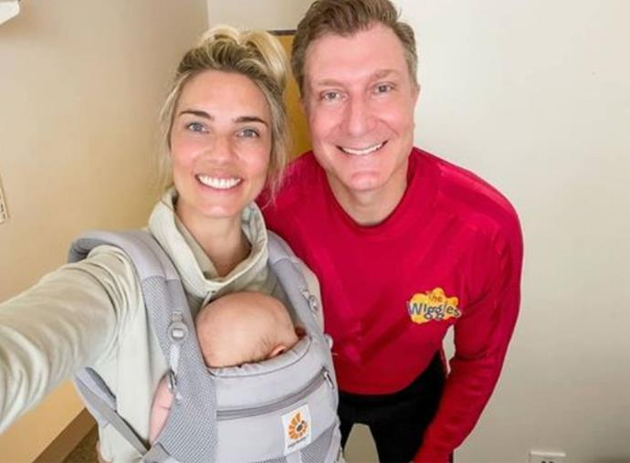**SIMON PRYCE, 49, & LAUREN HANNAFORD, 34: 15 years** <br><br> The 49-year-old children's singer and his fitness instructor wife Lauren Hannaford, who wed in 2017 after meeting on a Wiggles tour, welcomed their first child together in January this year.
