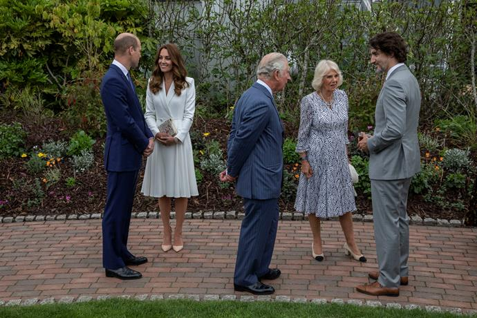 """Kate greeted Charles by calling him """"Grandpa"""" according to an onlooker."""