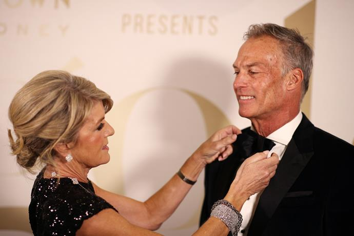 Their affection and love for each other is undeniable. How sweet is this tender moment when Julie fixed his bow-tie at the recent Gold Dinner in Sydney.