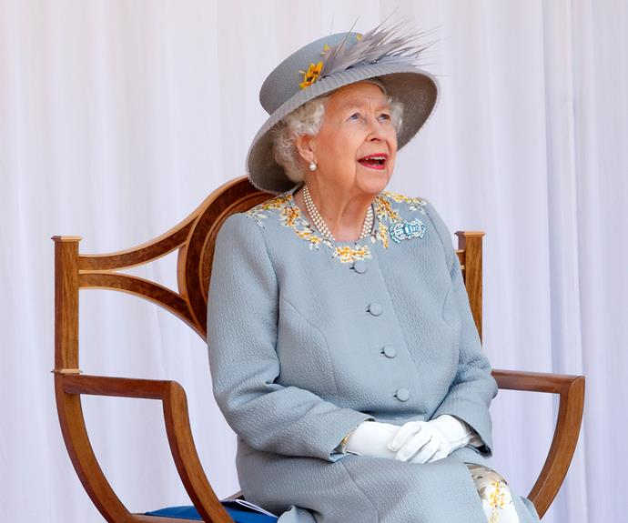 The monarch has paid tribute to her late mother by wearing her art deco brooch. The queen wore the dazzling aquamarine piece to attend a military parade, which marked her 95th birthday.