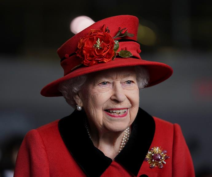 """The British matriarch wore this brooch to pay subtle tribute to her late husband, Prince Phillip, who gifted her the piece on their engagement in 1966. The brooch has been dubbed """"scarab."""""""