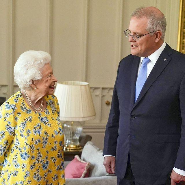 Scott told The Queen she was the talk of the town.