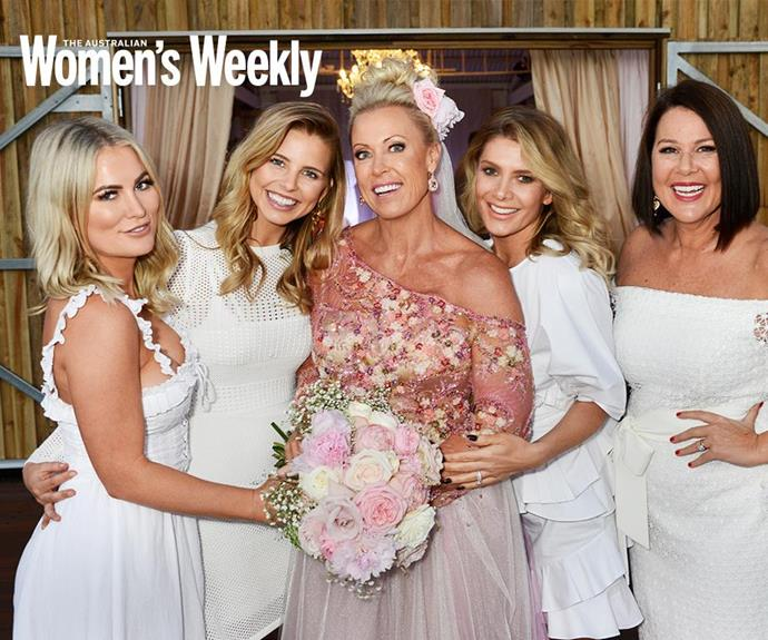 """Lisa promised to """"age gracefully"""" with him, and will continue to love him """"just a little more every day"""". She was joined by her *I'm A Celebrity* jungle mates, Keira Maguire, Natalie Bassingthwaite, Tegan Martin and Julia Morris for the big day."""