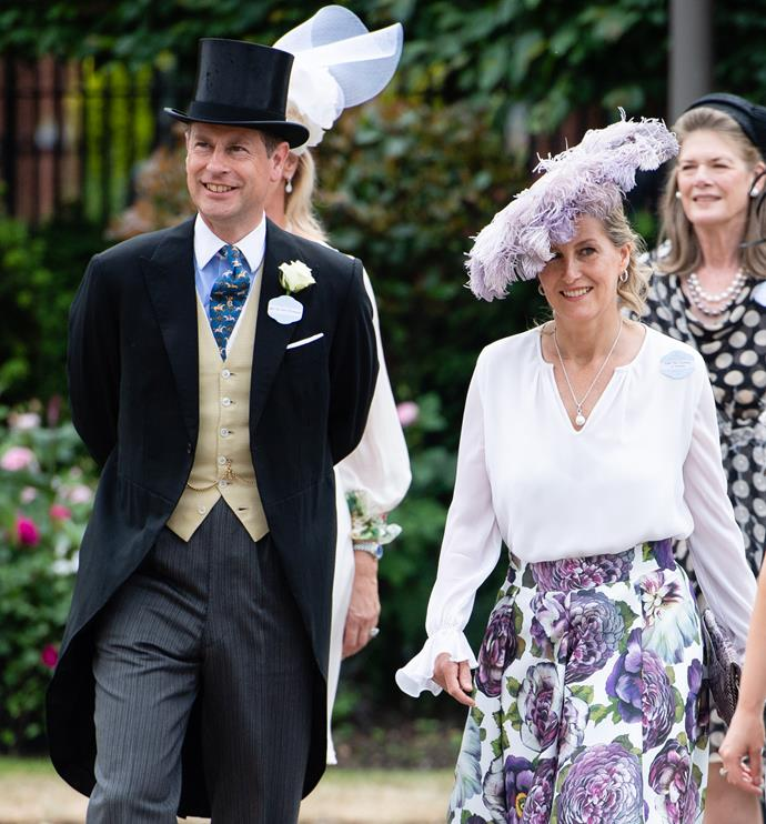 """Sophie of Wessex [led the fashion stakes](https://www.nowtolove.com.au/royals/british-royal-family/sophie-wessex-royal-ascot-68063