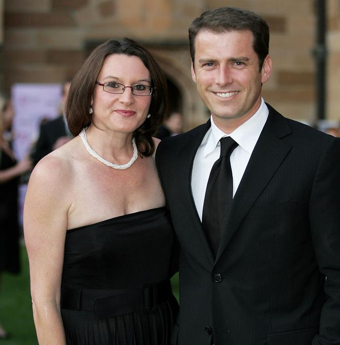 Cass and Karl, pictured at an A-list gala in Sydney back in 2008, divorced in 2017 after 21 years of marriage.