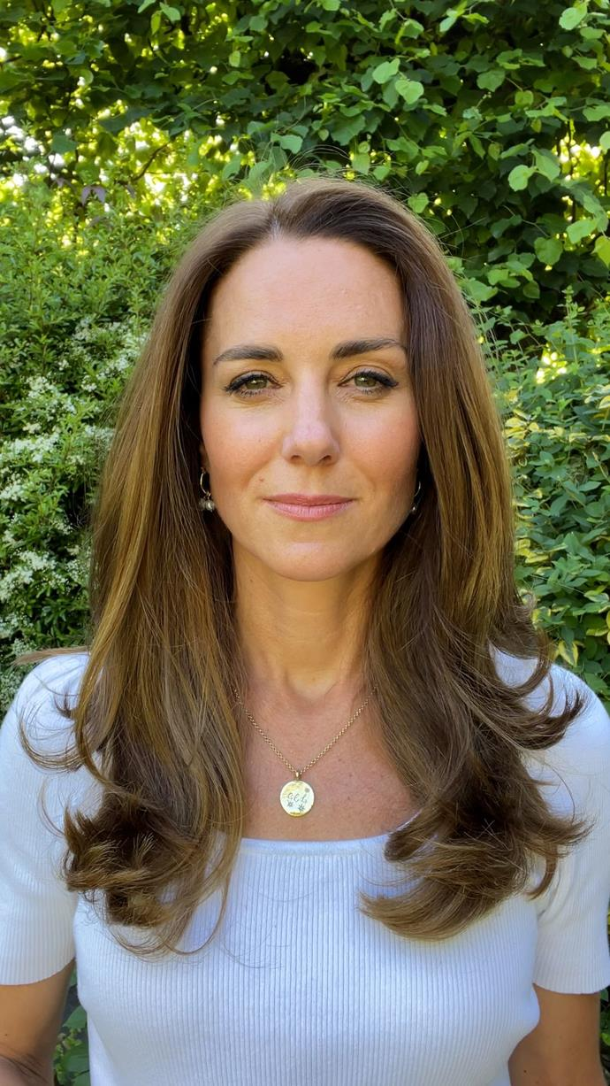 Kensington Palace released this still image of Kate to coincide with the announcement.