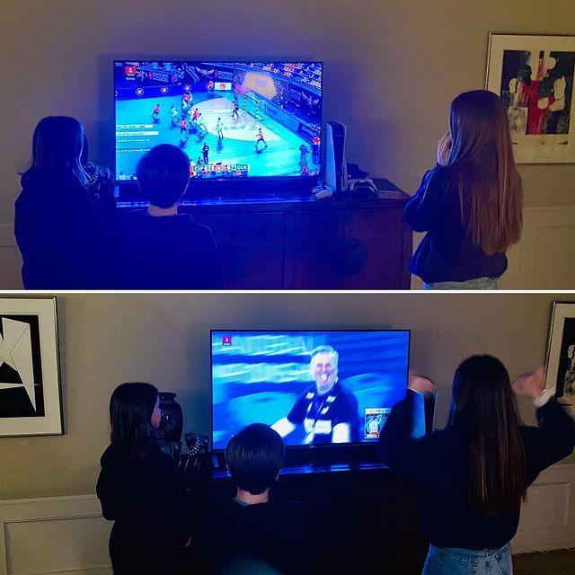 The family are big fans of watching their national teams play sport.