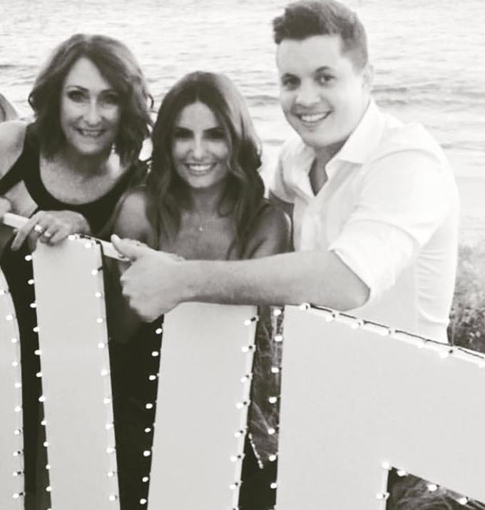 Johnny and Lynne pictured with Ada Nicodemou in a throwback.