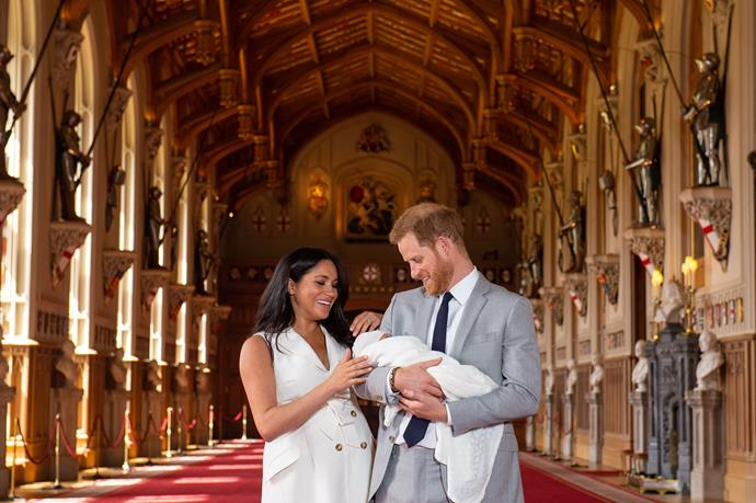 The first photoshoot with baby Archie took place before the Sussexes stepped back from their senior royal roles.