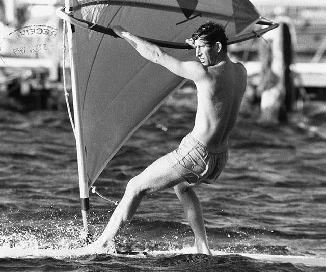 """Who knew Prince Charles was such an action man? That's right, during his youth the 72-year-old, pictured windsurfing 1969, [was an unlikely pin-up boy.](https://www.nowtolove.com.au/royals/british-royal-family/prince-charles-handsome-52285