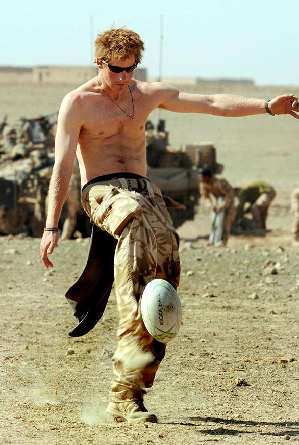 An abs-olutely ripped heir! As an apache pilot, Prince Harry was expected to have an elite-level of fitness.