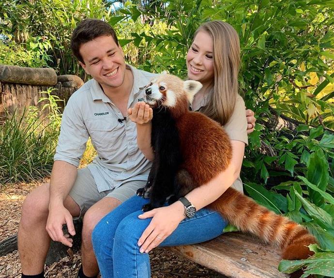 Bindi with her husband Chandler.