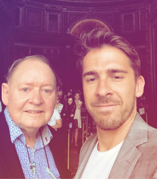 Hugh shared this lovely photo with his late father, Denis.