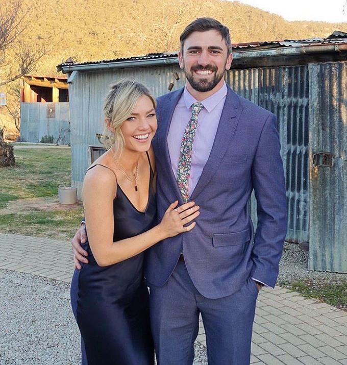 Sam with her ex Dave Bashford.
