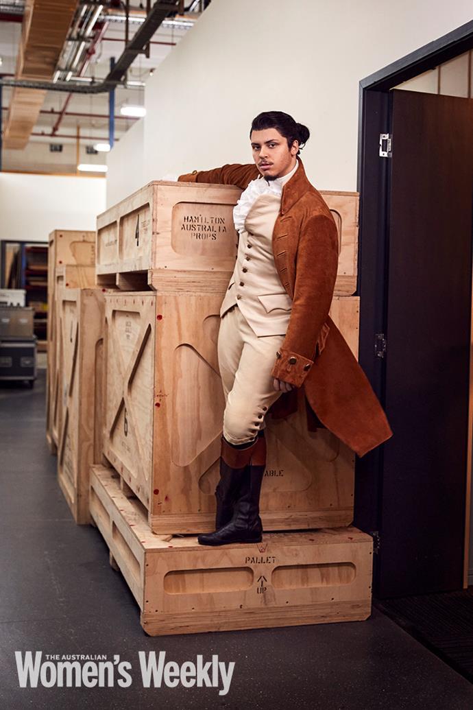 Jason Arrow, who plays Alexander Hamilton.