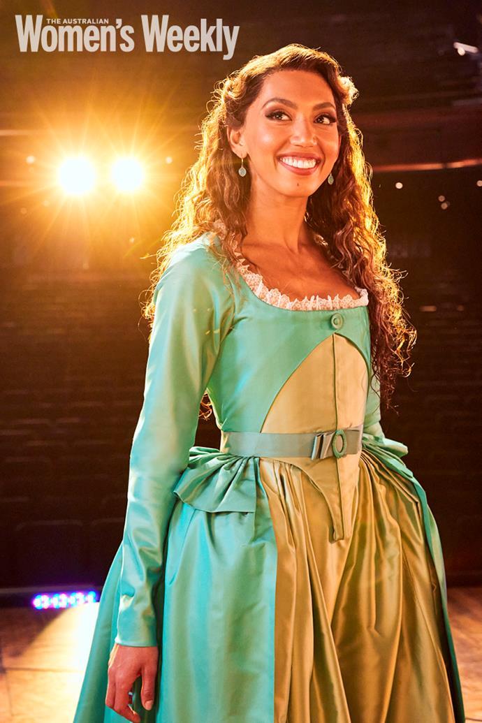 Chloé Zuel, who plays Eliza Hamilton