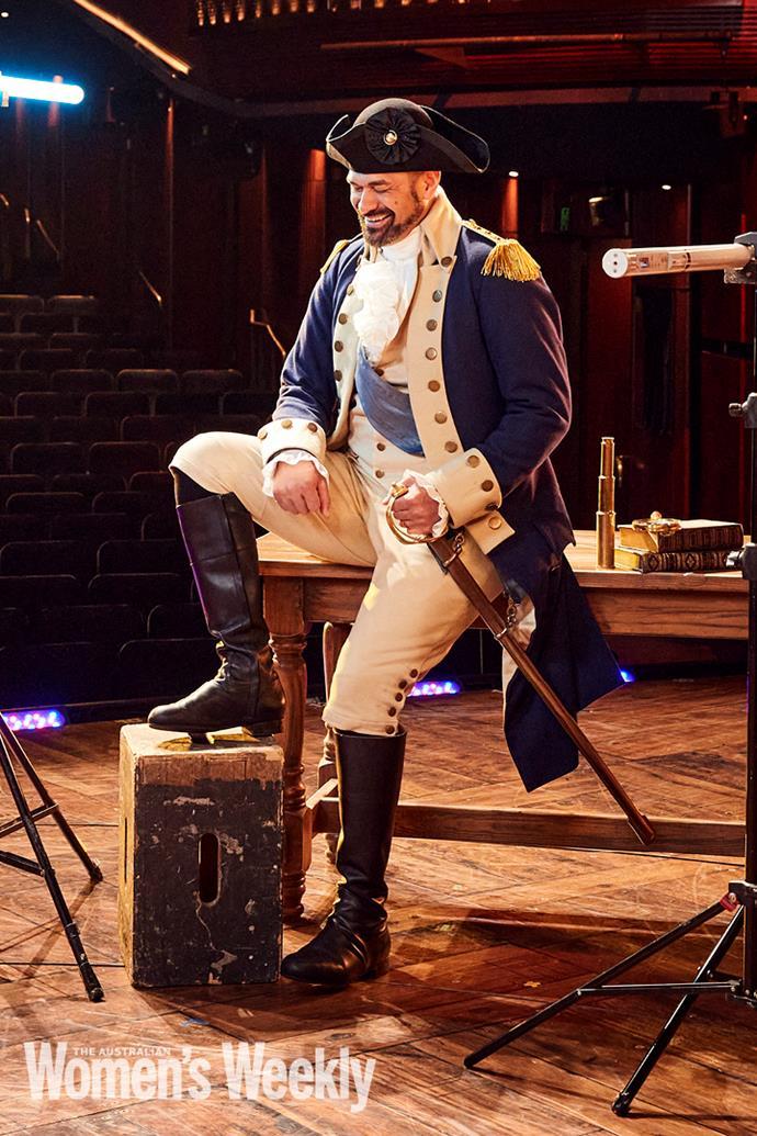 Matu Ngaropo, who plays George Washington.