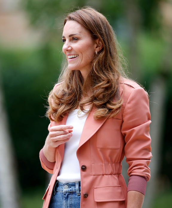 Kate wore a new Chloe jacket for the occasion.