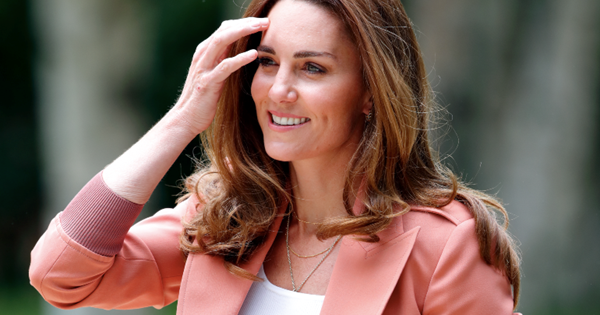 Duchess Catherine officially waves goodbye to her signature skinny jeans after stepping out in a new pair of denims