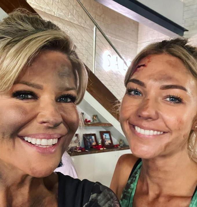 """The lovely Lynne McGranger complimented Sam and Emily in the comment section of this photo, and we couldn't agree with her more! <br><br> """"Still beautiful despite the dirt and grime,"""" wrote Lynne."""