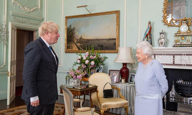 The Queen and Boris Johnson held their first in-person audience in over a year on Wednesday.