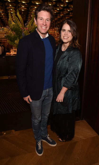 Princess Eugenie and Jack Brooksbank at the book launch of *Happy Not Perfect* in London on Tuesday evening.