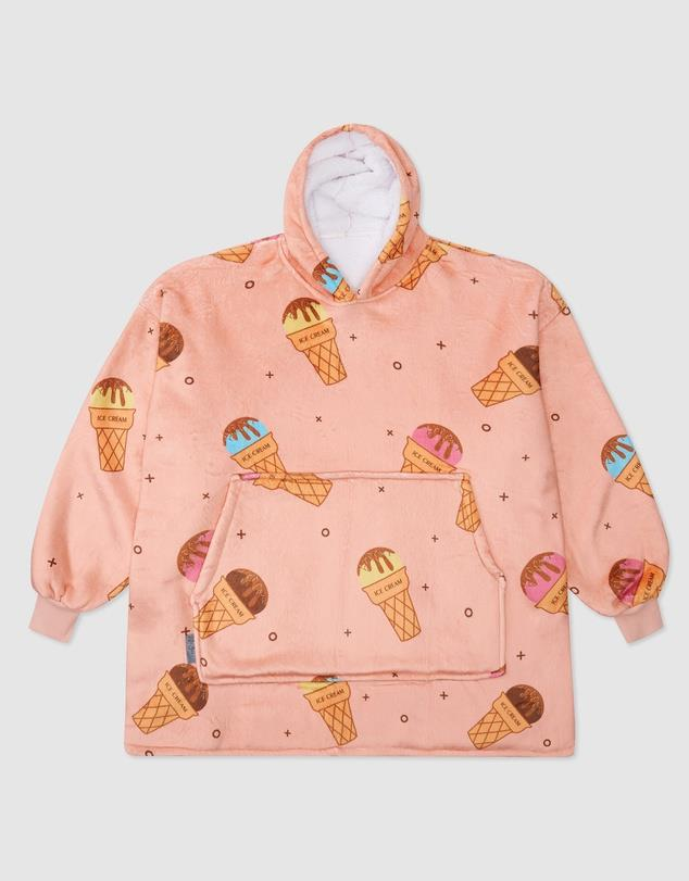 """Cute 'n cosy *does* go together like ice cream 'n cones, didn't you know? Try Miz Casa and Co design for proof. $69 (on sale), **[buy it online via The Iconic here](https://www.theiconic.com.au/luxury-hooded-blanket-1268222.html target=""""_blank"""" rel=""""nofollow"""")**"""