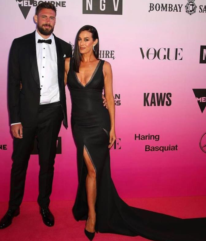 Shaun and Megan at a Vogue event in 2019.