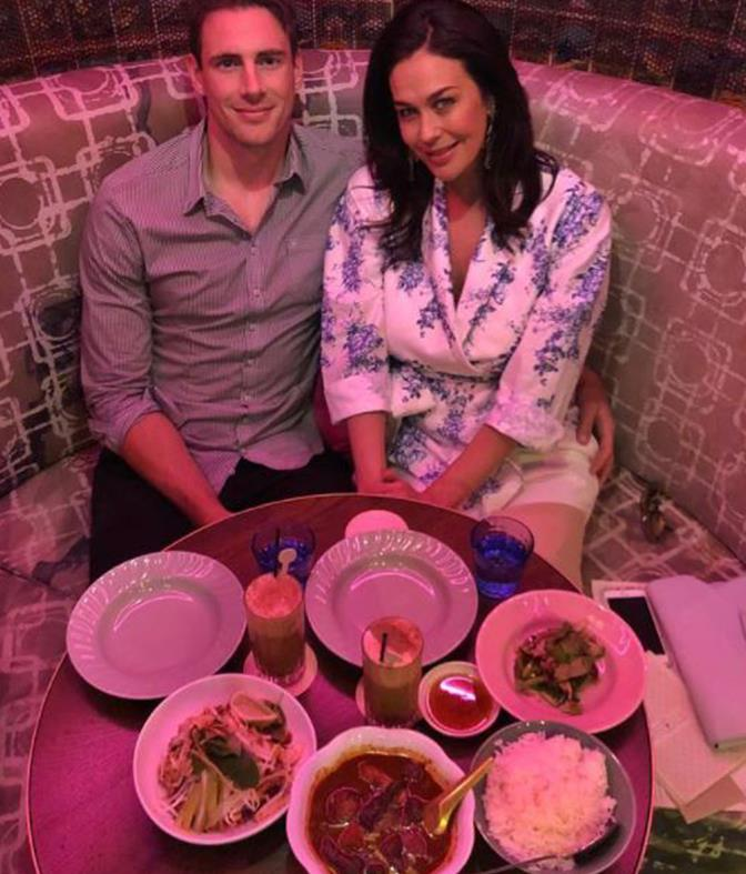 Shaun and Megan on one of their regular date nights.